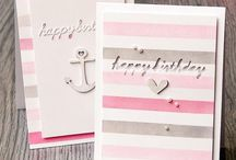 Stripes / Stripes on cards always look great and add to greatly to the design