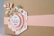 Hexagons / Using hexagon dies, stamps and stencils for creating stunning cards.