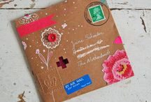 Mail art / Ever you ever considered creating artful envelopes for your handmade cards. Here are inspirations for designing beautiful envelopes to go in the mail.