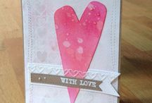 Hearts on Cards / Not just for Valentine - get those hearts on your cards using stamps, dies and embossing