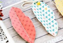 Feathers on cards / Using feathers as a design element in card making