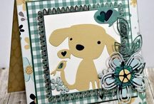 Dog cards / Card designs with dogs or easily adaptable for doggy cards.