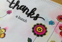 Floral cards / Using flowers, blossoms and leaves on cards for any occasion by stamping, die-cutting and embossing.