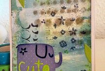 Mixed Media Cards / Use mixed media techniques in your card making and get unique results.