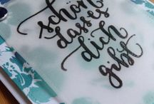 Words as focal point / Use your word dies and sentiment stamps to make words the focal point of your card.