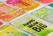 Neon cards / Using neon colours on cards to give a bright spark