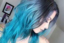 Hair / Pretty hairstyles & colours.
