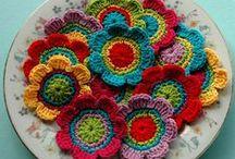 flores flowers crochet