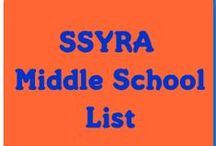 SSYRA (6th-8th) / books, trailers, lessons, and more that deal with SSYR books for MIDDLE SCHOOL in the Media Center / School Library.