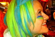 Seattle Seahawks Hair color and Nail Art / Come to Salon V in NYC this Fri, Sat and Sun before the Superbowl to get your hair color-chalked or nails painted in Seattle Seahawk colors!