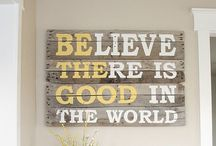 Pics, quotes and wall deco