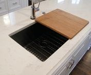 Stainless steel drainboard undermount kitchen sink / Create Good Drainboard Sinks eliminate the ugly seam around the drain creating a beautiful focal point. Get Started Today!  #stainlesssteeldrainboardundermountkitchensink