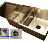 Drainboard Kitchen Sinks / Create Good Drainboard Sinks eliminate the ugly seam around the drain creating a beautiful focal point. Get Started Today!  #drainboardkitchensinks