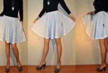 Spódniczki dresowe z koła / Spódniczki dresowe z pełnego koła 6 kolorów