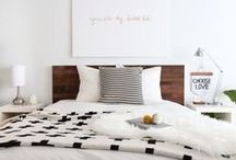 SPACES | Bedrooms / Casual, eclectic, modern bedrooms. Home decor, home design, home style ideas.