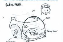 Guest Sketches / All of these sketches for wheelchair costumes were designed by guest sketches from Comic Con and submissions to our site.