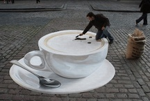 Coffee Cup Art and Drawings