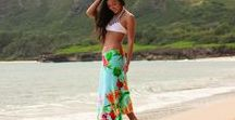 Simple Sarongs / A beautiful beach towel that easily buttons into a swimsuit cover-up.