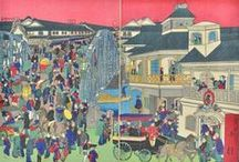 Modernization in Meiji Japan (1868 - 1912)   Apr 22 - Aug 28, 2016 / Meiji woodblock prints are fascinating in that they reveal to us a country in total transition. During the short period of Emperor Meiji's reign (1868-1912) of nearly 45 years, Japan made an astonishingly swift metamorphosis from a feudal state into a modern industrial nation and major military power. This exhibition will focus on three main aspects of their modernization: architecture, transportation and wars.
