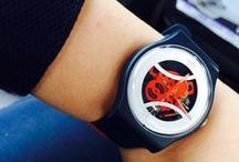 My Swatch collection / I'm not a die-hard Swatch fans, but like its simplistic n' colorful design!  / by Madison Wai