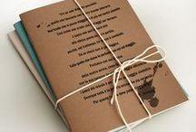taccuini e quaderni Pensieripensati / Taccuini e quaderni in carta riciclata Copertine tematiche, una per ogni occasione.  Di che pensiero sei?