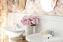 Vintage floral bathroom ideas / Currently in the process of remodeling my newly acquired bathroom, and thought I'd pass on inspiration to others!