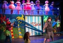 Seussical / Now one of the most performed shows in America, Seussical is a fantastical, magical, musical extravaganza! TONY winners Lynn Ahrens and Stephen Flaherty (Lucky Stiff, My Favorite Year, Once On This Island and Ragtime) have lovingly brought to life all of our favorite Dr. Seuss characters, including Horton the Elephant, The Cat in the Hat, Gertrude McFuzz, lazy Mayzie, and a little boy with a big imagination–Jojo.