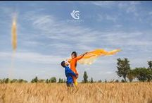 Creative Village themed Pre-Wedding Photoshoot / Creative Pre-Wedding Photoshoot Ideas for Indian Couple getting married who want Bollywood style, Village Themed Pre-wedding shoot for their BigIndianWedding. The Desi Indian Wedding Couple can be inspired from these awesome pre-wedding couple shoot ideas.  Shot by Sandeep Gadhvi Photography. #SGClicks #SGFilms #PreWed #Candid #Wedding #Awesome