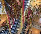 Blumendekoration für Einkaufszentrum, Shopping-Mall / Florale Gestaltung für #Quarree #Wandsbek, #Europapassage, #Einkaufspassage, Shopping-Center in Hamburg