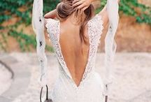 wedding dresses to rock my world / Wedding dress design ideas  I want a low back beachy dress that is on the hippie chic side.  I do love some lace but not too much!  Since it is on the beach in Thailand in the summer a dress with light flowy material