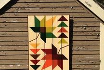 "Barn Quilts / ""Barn quilts are rural gifts, a bright spot along America's highways and byways. …the simple sight of a barn quilt has often made my heart smile. We recognize the blocks, they speak to us without words. "" —Bonnie K. Hunter"