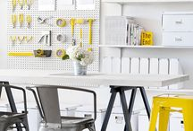 DECOR :: Craft, Studio, & Office / Ideas for organizing your Craft Room, Studio or Office room.  Includes fabulous inspirational craft rooms and beautiful feminine home office.