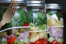 Tasty salads / Healthy foods