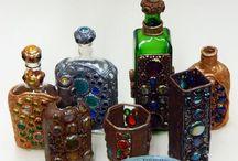 Beautiful bottles (Красивые бутылки) / Декорирование стеклянных бутылок