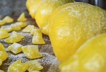 Candies and confections / sweet, sweet lemon and orange candies