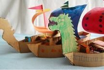 Cardboard creations for kids / Toys that kids make with cardboard boxes, creativity and education through play.