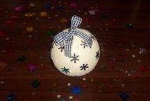 Christmas baubles handmade
