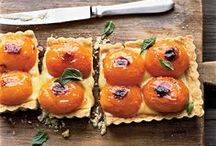 Sinfully sweet and delightfully delicious / the descriptions says it all, gilled California peaches, California apricots in a tart on a  shortbread crust.