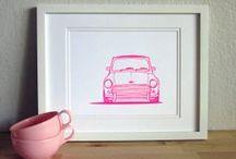 Car Art / Prints, paintings, and drawings of cars we love! <3
