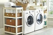 DECOR :: Laundry Room Living / Laundry room makeover, inspiration, and decorating