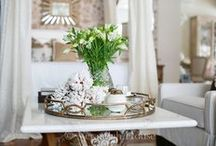 Tray Vignette Inspiration / I love vignettes and even better is when they are in a great looking tray. Check out these awesome tray vignettes!