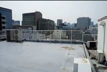architecture_空調、室外機、配管、屋上