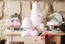 CAKE/DESSERT DISPLAY / Wedding dessert and cake table display ideas