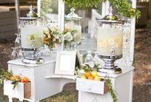 BAR/DRINK STATION / Wedding decor ideas for a bar or drink station