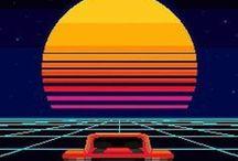 illustration 80年代テイスト