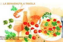 Heineken, food illustration / Illustrations for Heineken website, Robilant Associate, watercolor, ink and pen