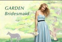 Garden Bridesmaid / 穏やかな自然と親しい人たちに囲まれて過ごす優しい時間。 リラックスムードで着るブライズメイドドレス。