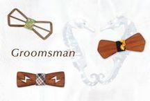 Groomsman / グルームズマンのボウタイ。ドレスとお揃いでコーディネートして楽しもう。