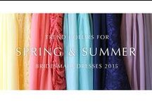 2015 SPRING & SUMMER BRIDESMAID / TREND COLORS FOR SPRING & SUMMER BRIDESMAID DRESSES 2015
