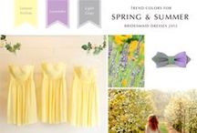 Bridesmaid Color Image Board / ブライズメイドのカラーテーマをご提案しています。